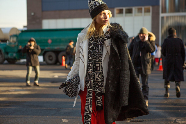 beanie, winter outfit, how to wear beanies, winter hat, knit hat, nyfw, street style, red, fall, spring, beanie