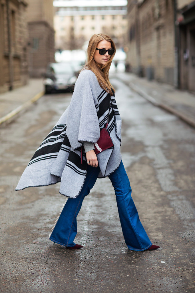 flare-jeans-blanket-coat-boho-winter-via-stockholm-street-style