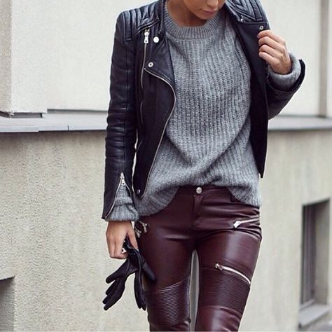 grey-sweater-blac-leather-moto-jacket-red-burgundy-oxblood-leather-pants-zippers-marsala-winter-neutrals-via-shopstyle
