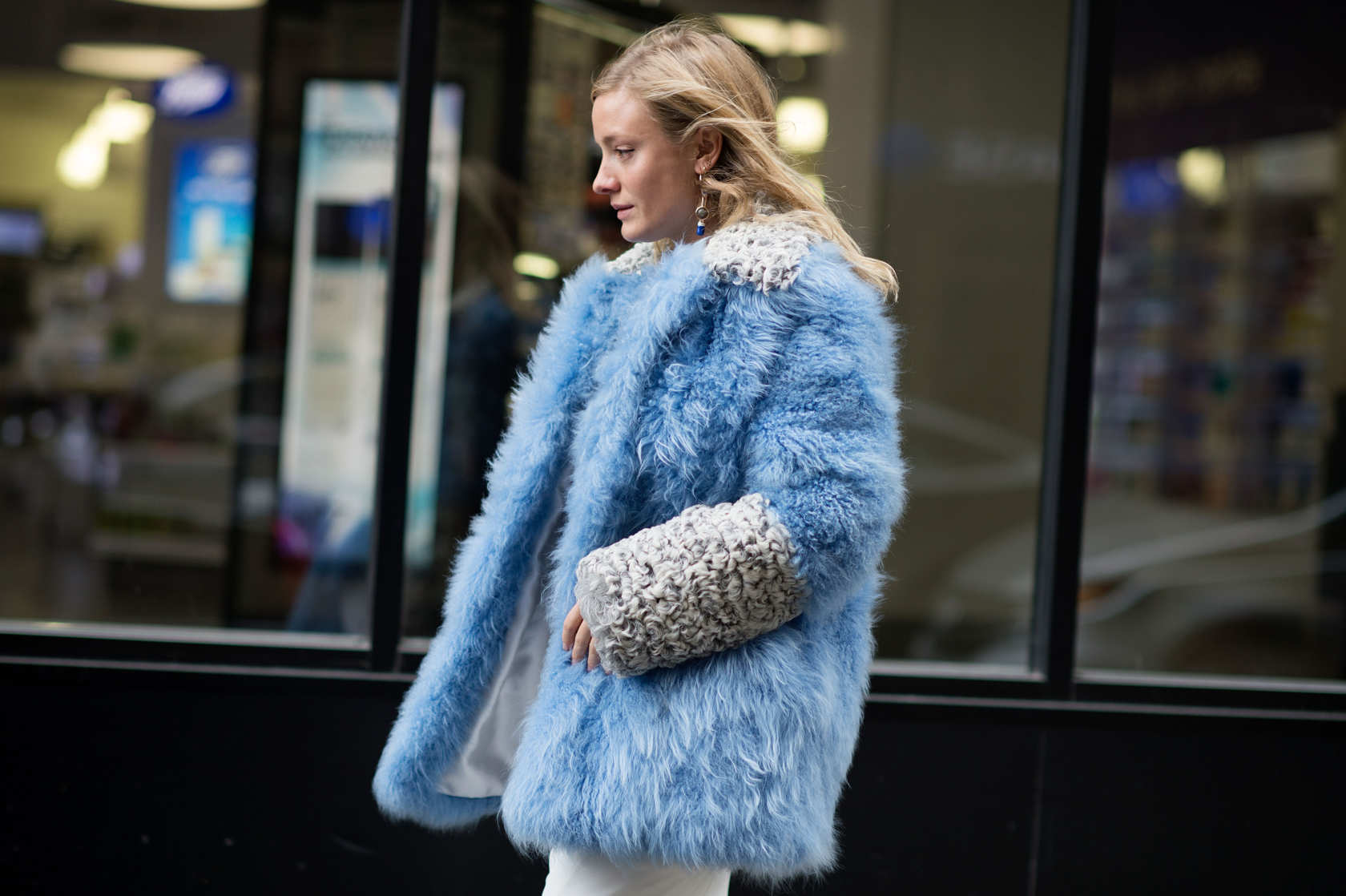 kate-foley, colored fur, statement coat, nyfw, winter, layering, coats, cold, fashion week