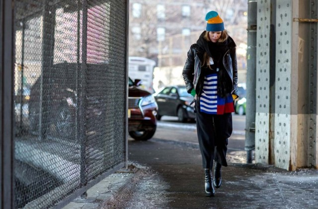 nyfw-stripes-leather-moto-jacket-hat-cropped-pants-and-boots-via-thestyleograph