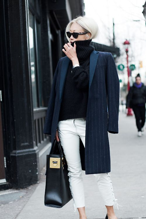pinstripes-coat-white-jeans-black-turtleneck-sweater-via-fashion01234.blogspot.com
