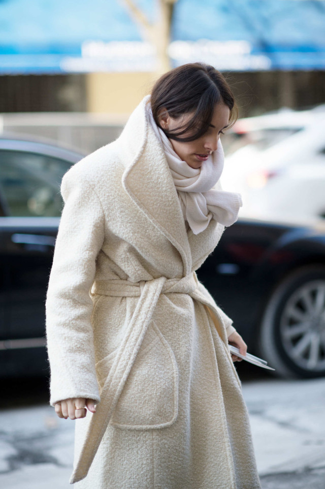 winter whites, nyfw, winter, layering, coats, cold, fashion week,
