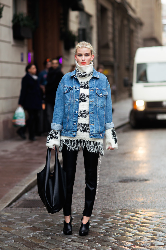 Closet Remix: 20 Ways to Wear a Denim Jacket This Fall | Closetful ...