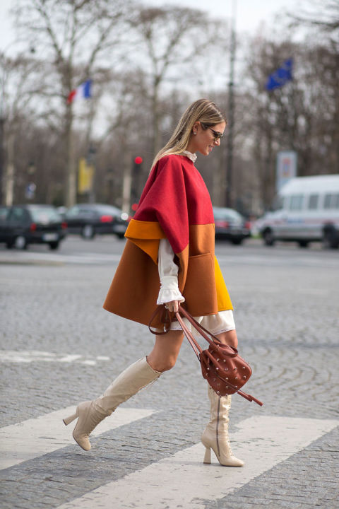 pfw, street style, winter to spring, transitional dressing,