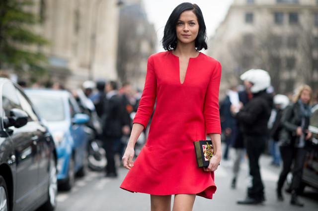 red-dress-flippy-hem-going-out-night-out-party-wedding-via-elle.com