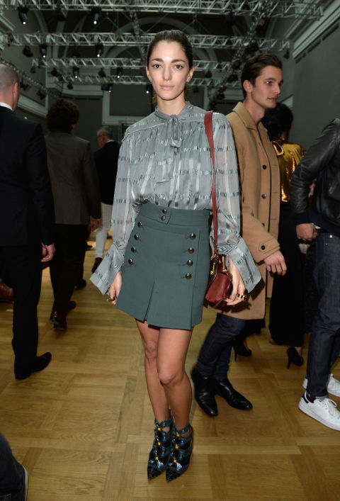 tie-neck-blouse-pfw-mini-skirt-buckles-winter-to-spring-green-via-bazaar
