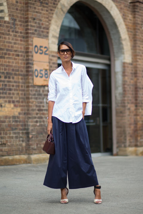 culottes, white shirt, oxford, men's oxford