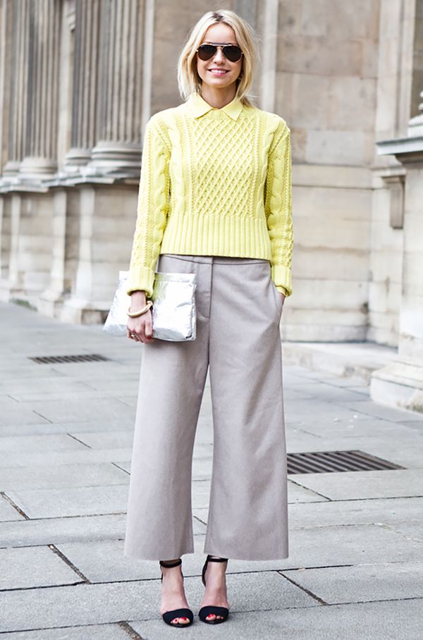 culottes, yellow, spring