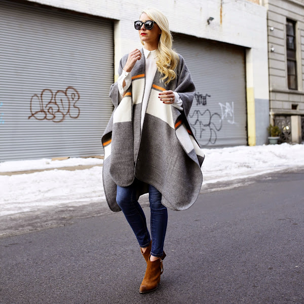 atlantic pacific, blair eadie, the bloggers, blanket coat, boho, western, spring, fall, jackets, cape