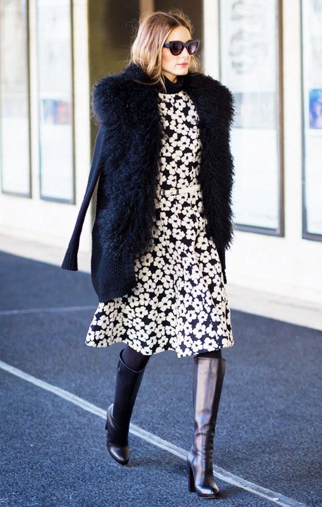 easter-dark-florals-daisy-print-fur-coat-knee-boots-olivia-palermo-via-whowhatwear