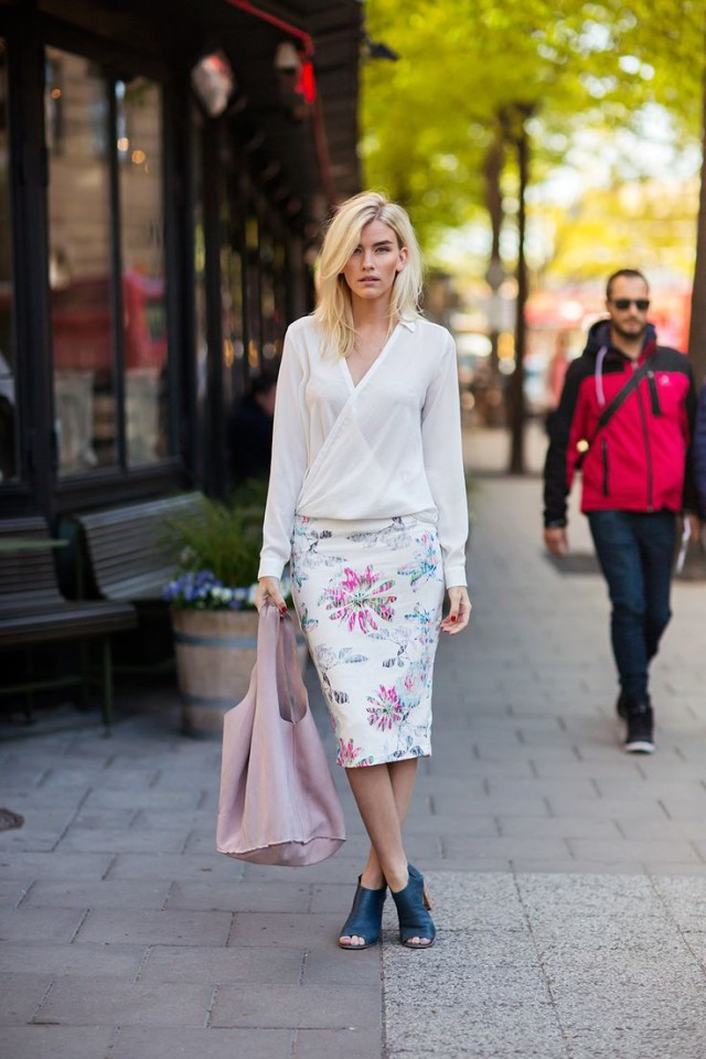 easter-pastels-mules-printed-pencil-skirt-wrap-blouse-via-lucasdavenport.tumblr.com
