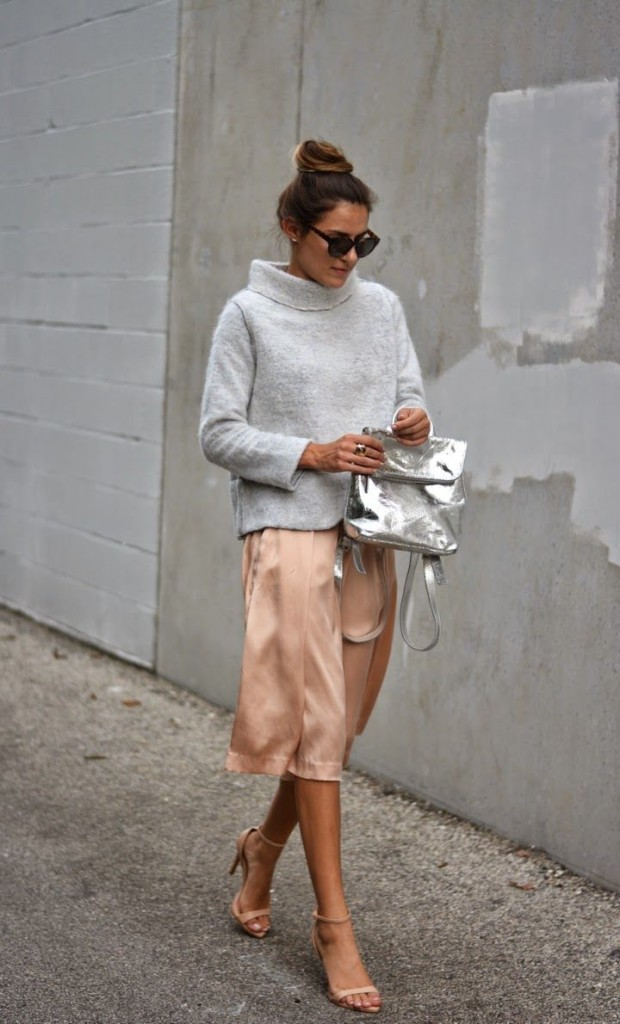 easter-peach-blush-sweater-over-dress-grey-turtleneck-sweater-spring-work-night-out-via-thequarterlifecloset.blogspot.com