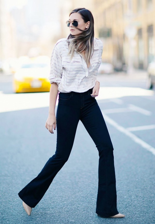 flare-jeans-blouse-spring-work-denim-pointy-toe-heels-via-weworewhat