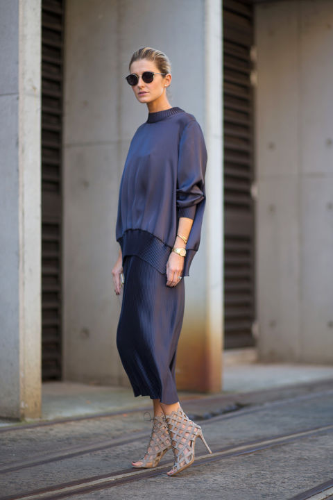 navy, siilk, oversized, work