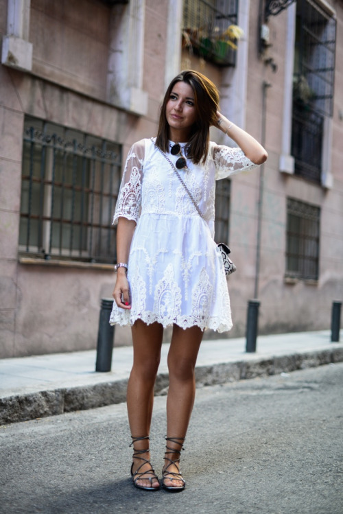 little-white-dress-lace-dress-gladiator-sandals-summer-spring-via-lovely pepa