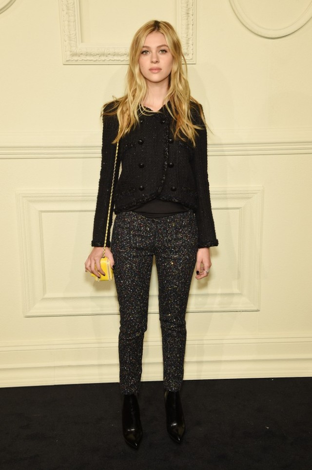 chanel, black tweed skinnies, work, spring, night out