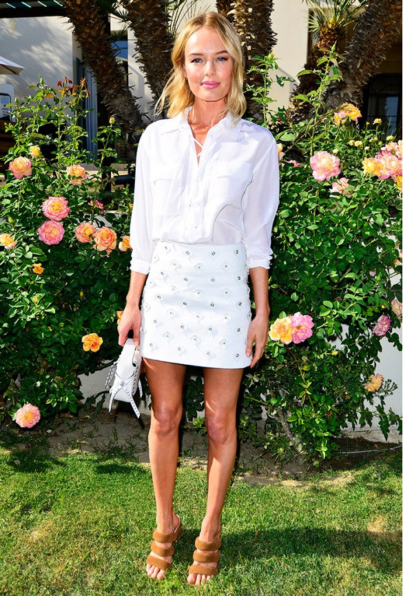 kate bosworth, coachella, all white