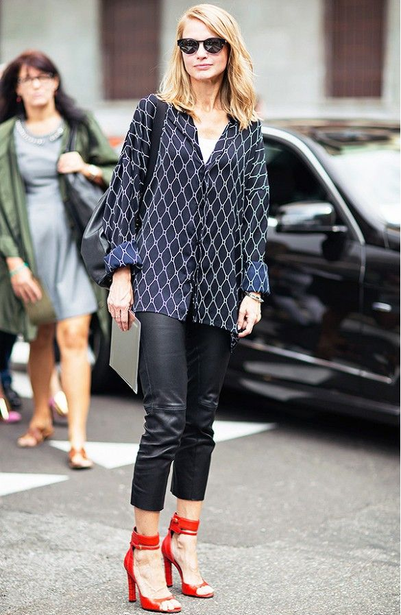 night-out-leather-pants-blouse-red-heels-via-whowhatwear