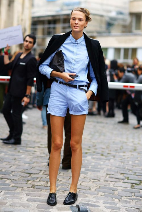 pastel-blue-black-shorts-oxfords-tomboy-menswear-via-www
