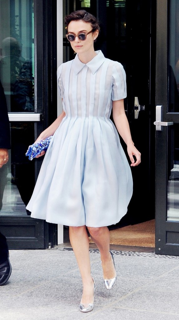 pastel-blue-silver-shirt-dress-ladylike-keira-knightley-shirtdress-going-out-brunch-shower-engagement-party-wedding-via-www