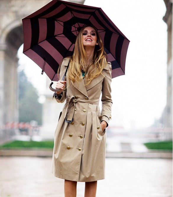 rain-outfit-trench-via-www-theblondesalad, umbrella, rain, trench coat