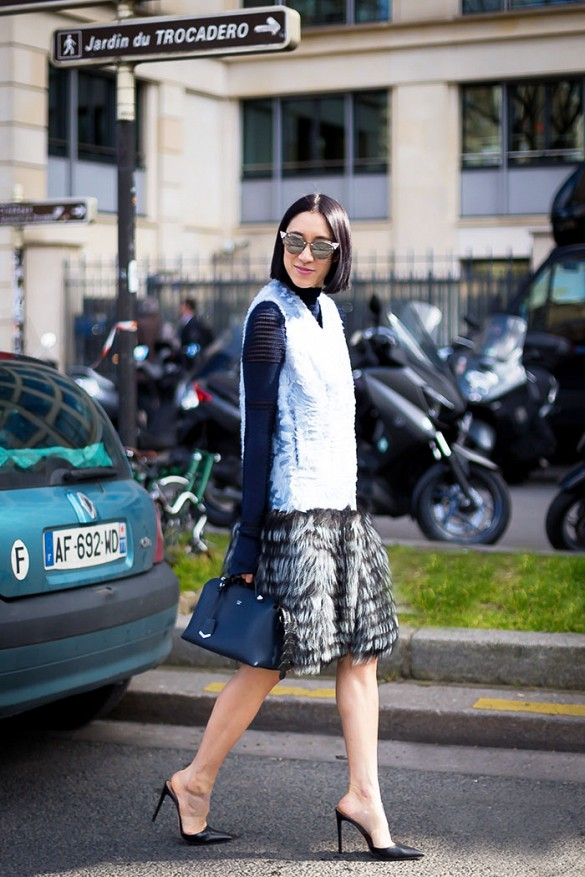 spring-work-going-out-feathers-pastel-blue-vest-fuzzy-spring-layers-mules-via-styledumonde