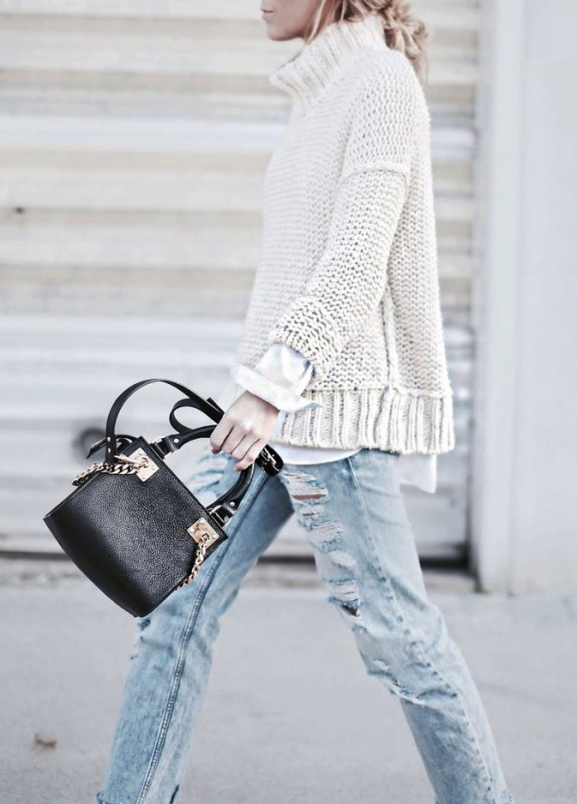 weekend-layers-turtleneck-sweater-weekends-distressed-denim-via-adoreness.com