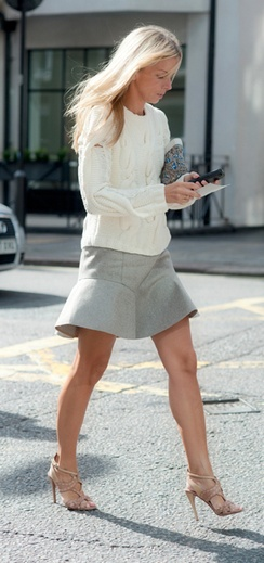 work-grey-tulip-skirt-white-fisherman-sweater-heels-spring-work-meredith-melling-burke-editors