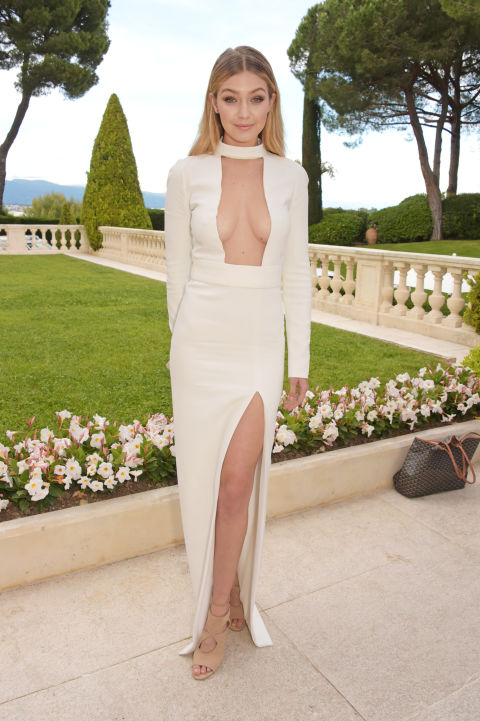 gigi hadid, cannes, evening gown, black tie, special occasions, red carpet style