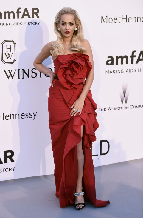rita ora, amfar, cannes, evening gown, black tie, special occasions, red carpet style