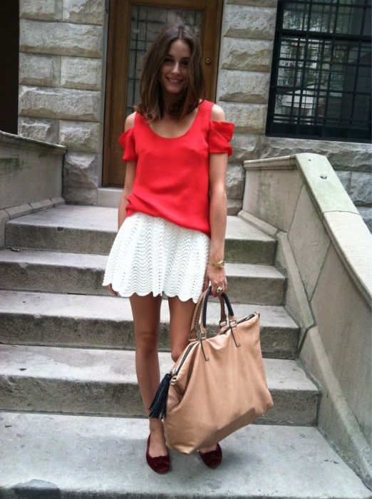 olivia palermo, cutout shoulders, white skirt, summer, travel, jetsetter, weekend