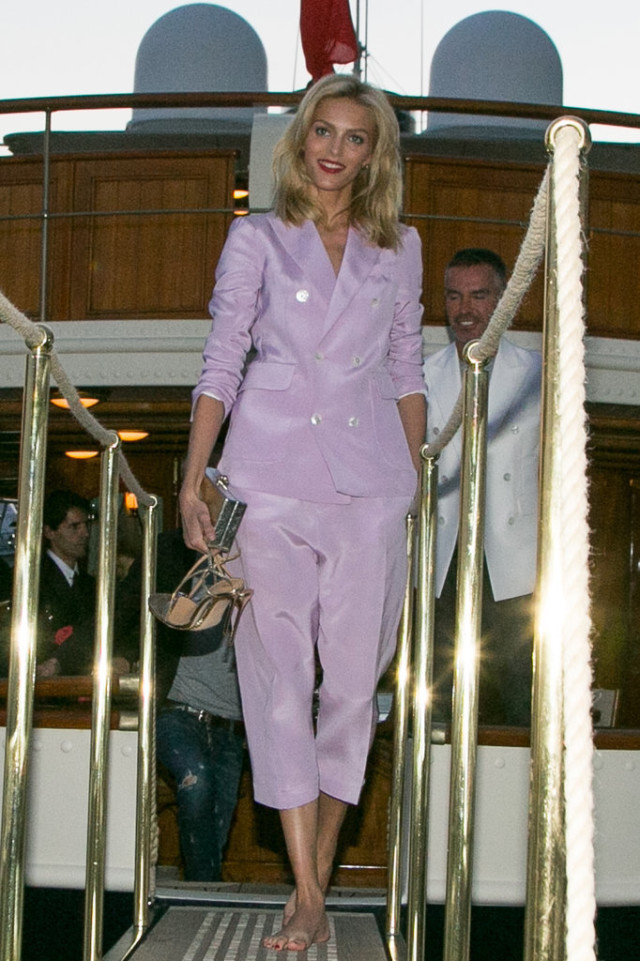 Anja-Rubik, cannes, suit, pants suit