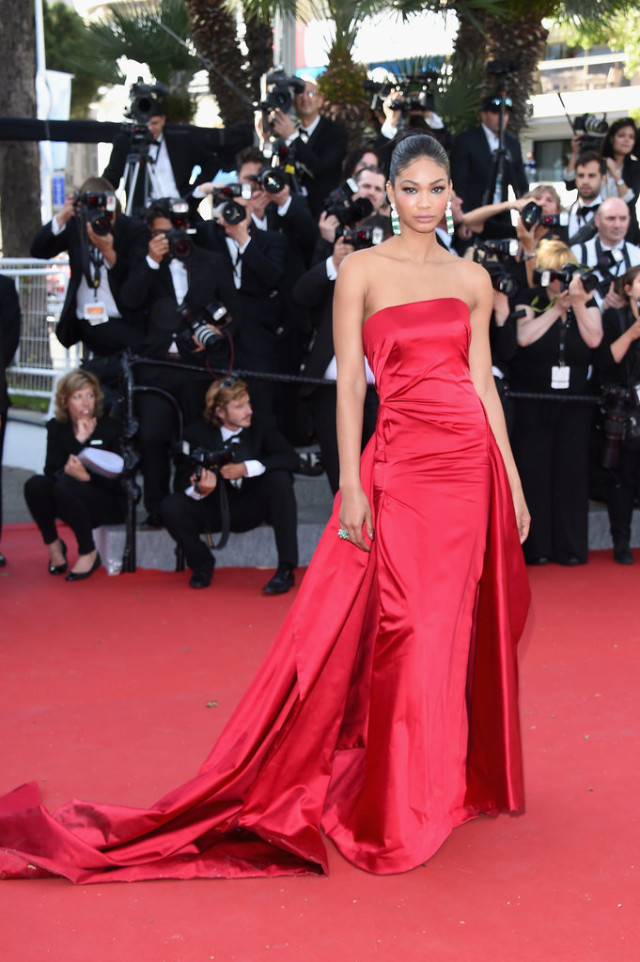 Chanel-Iman, cannes, evening gown, black tie, special occasions, red carpet style