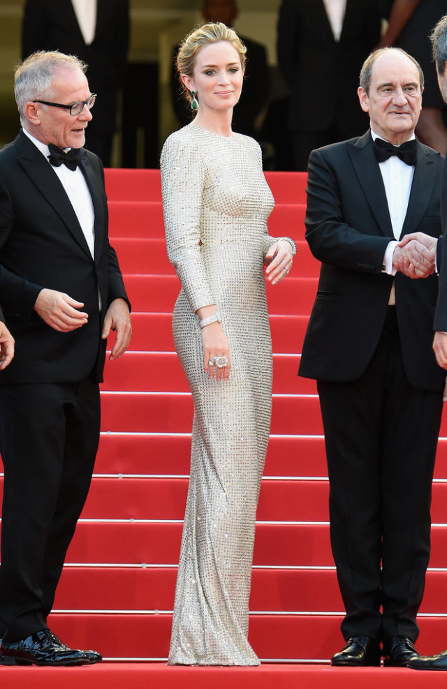 Emily-Blunt, cannes, evening gown, black tie, special occasions, red carpet style