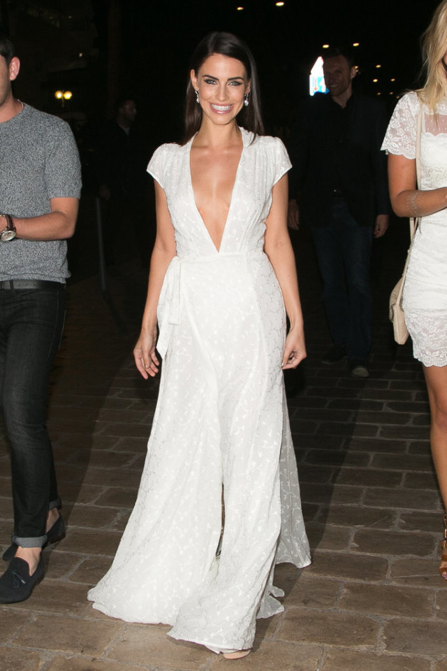 Jessica-Lowndes white dress, cannes, evening gown, black tie, special occasions, red carpet style