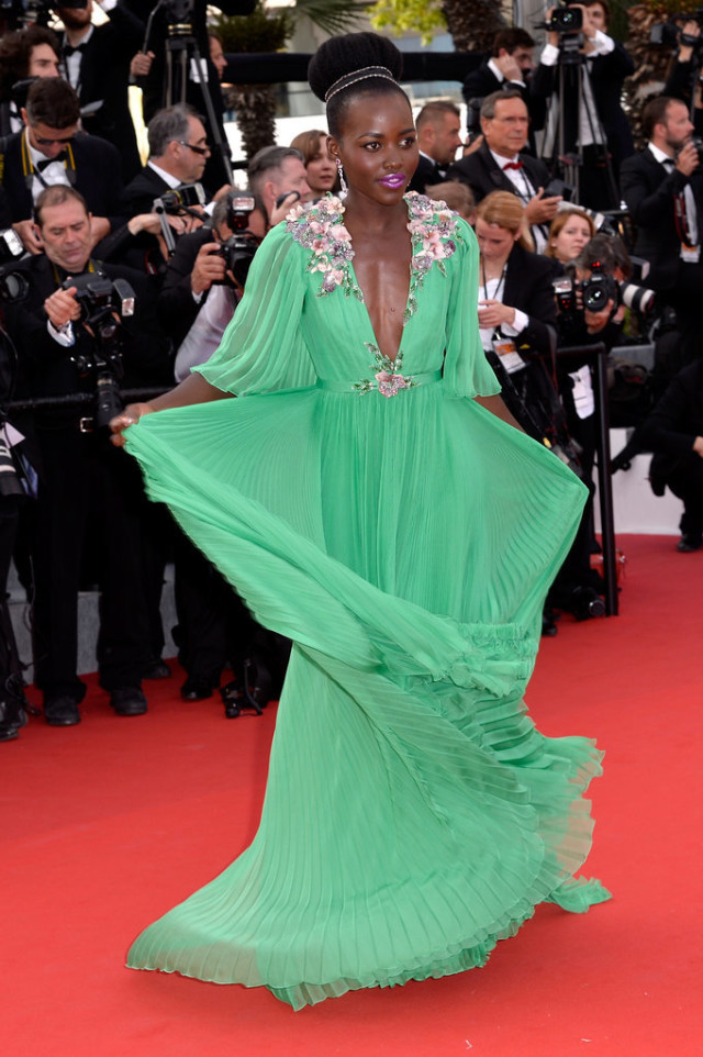 Lupita-Nyongo, cannes 2015, red carpet style, evening, black tie, evening gowns,
