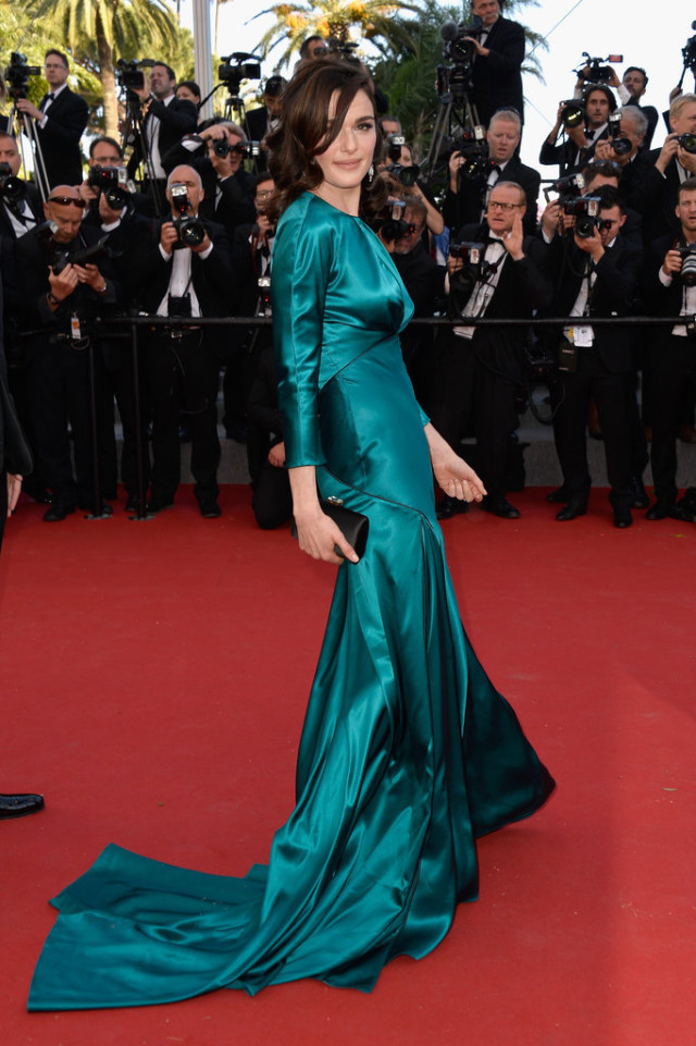 Rachel-Weisz, cannes, evening gown, black tie, special occasions, red carpet style