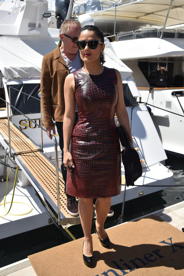 Salma-Hayek,  cannes 2015, celeb style, sundress, summer, occasions, events, parties