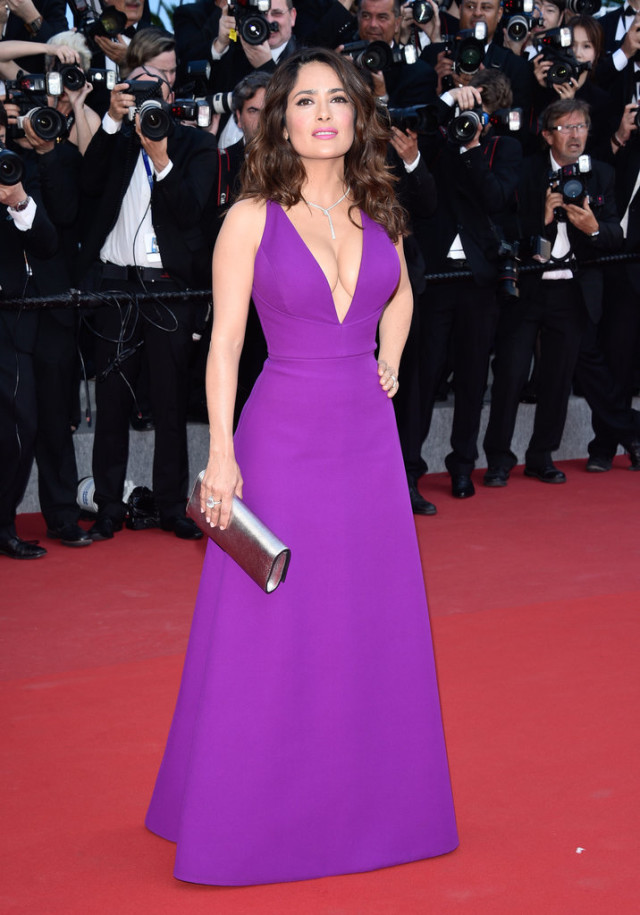 Salma-Hayek, cannes, evening gown, black tie, special occasions, red carpet style