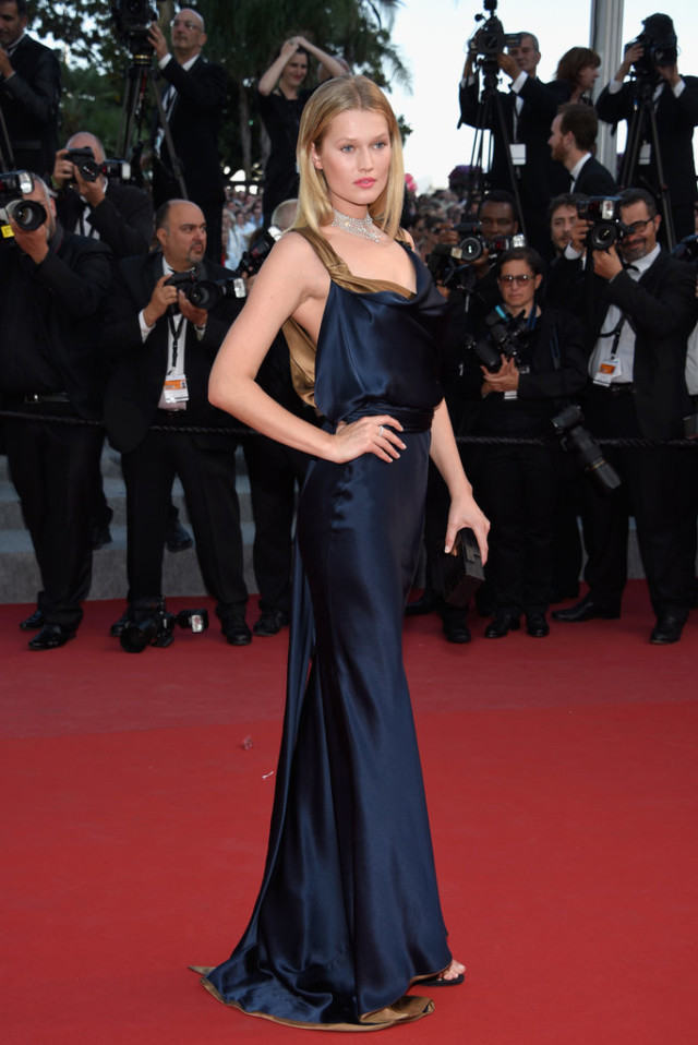 Toni-Garrn-cannes, evening gown, black tie, special occasions, red carpet style