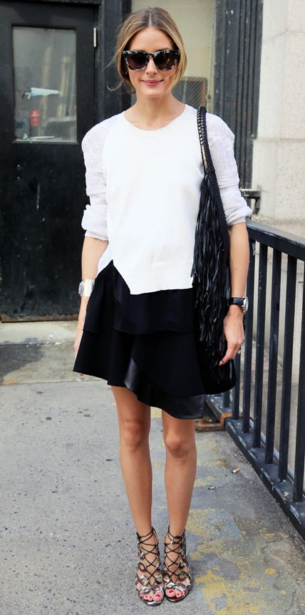 black-and-white-lace-up-sandals-black-wrap-skirt-via-popsugar