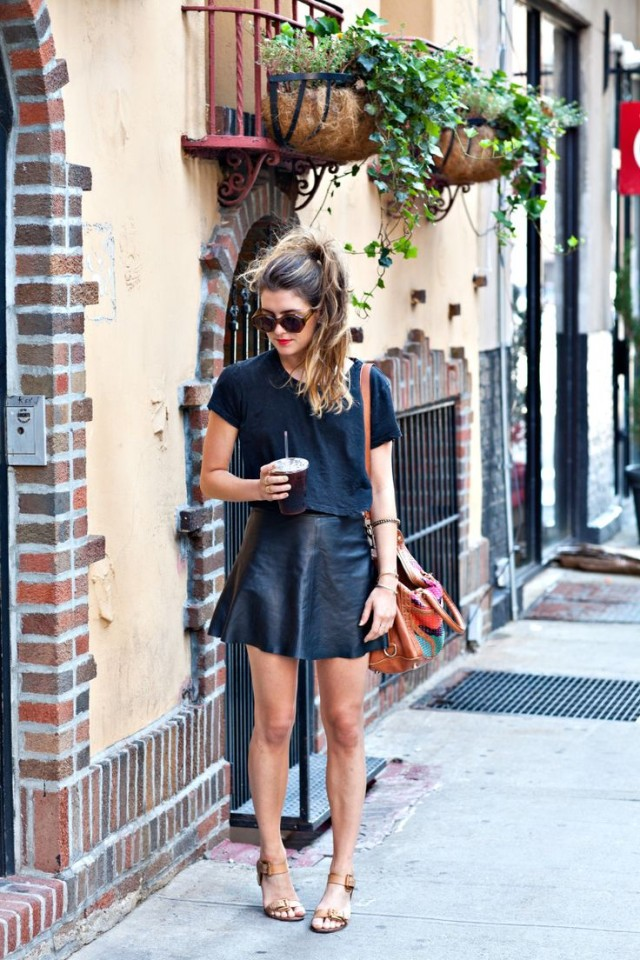 black-leatehr-mini-skirt-sandals-boxy-crop-top-via-bloglovin.com