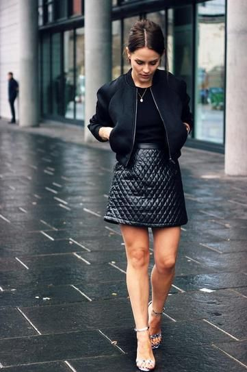 black-leather-mini-skirt-baseball-jacket-via-