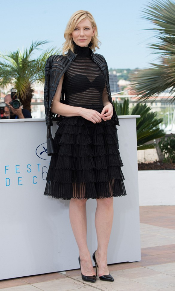 cate-blanchett-sheer-fringe-ruffles-bra-black-going-out-evening-cannes-via-wireimage