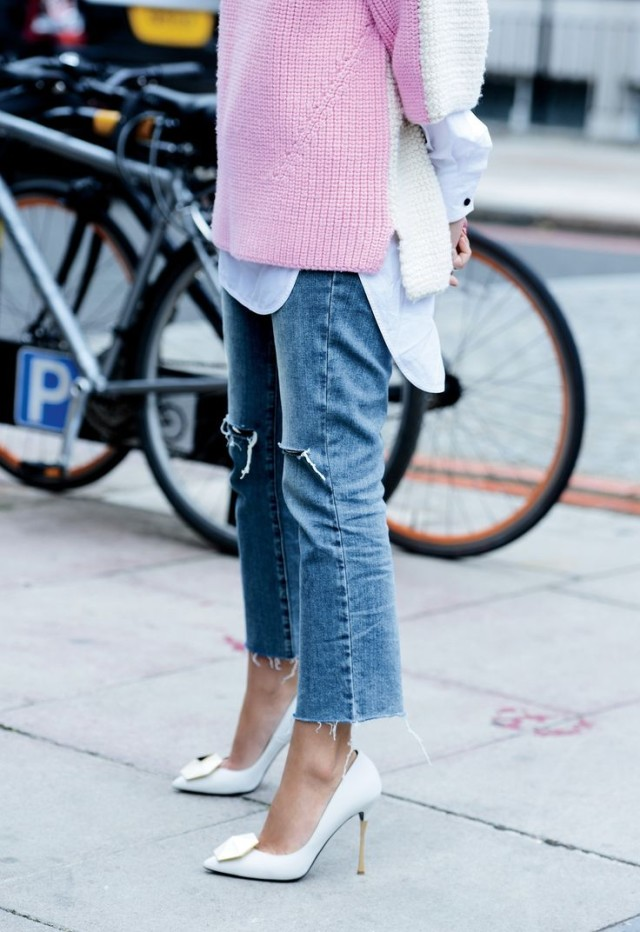 cropped-denim-frayed-denim-pink-and-white-white-heels-short-sleeve-sweater-white-oxford-spring-via-