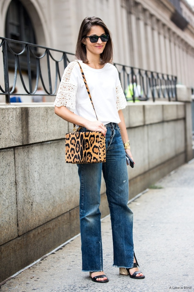 Maria Duenas Jacobs, nyfew, mom jeans, frayed hems, sandals, crochet, leopar dprint