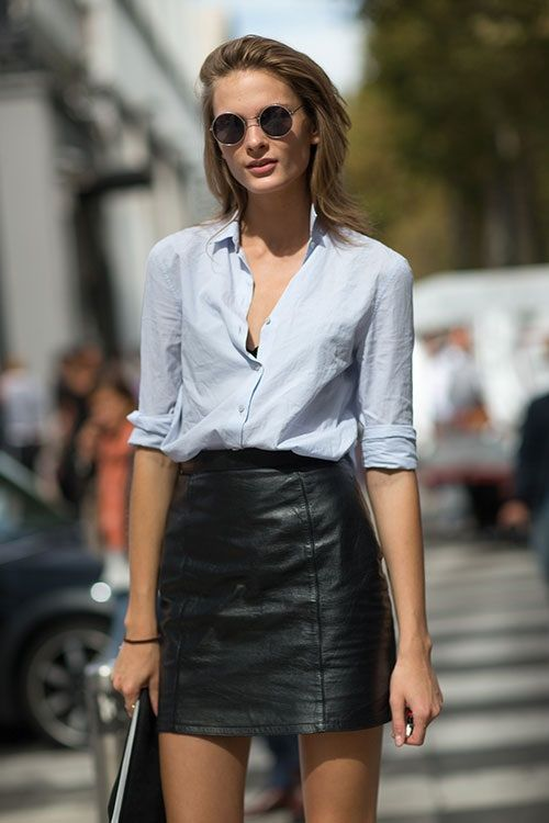 How To Wear Leather Mini Skirts in Summer | Closetful of Clothes