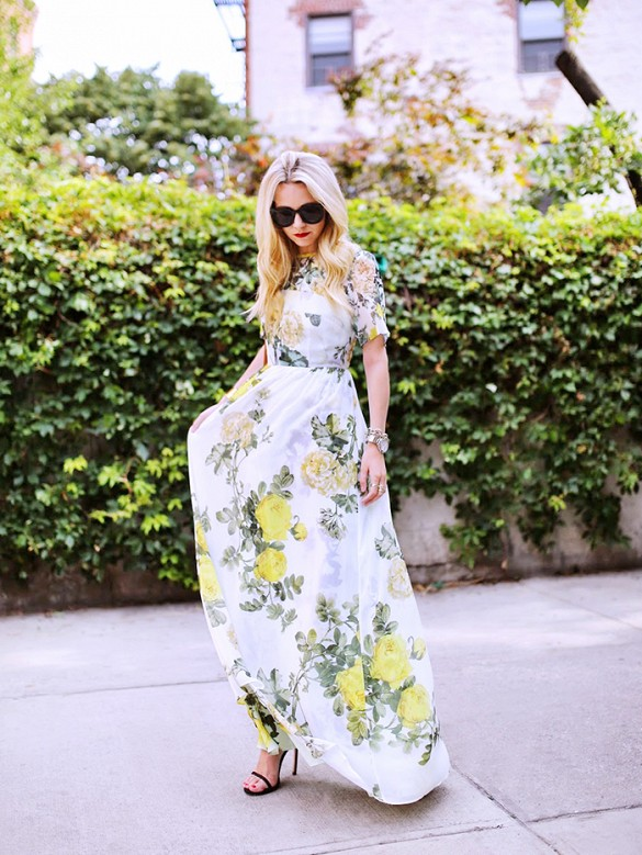 floral maxi dress summer wedding spring wedding shower