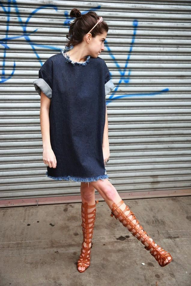 frayed-denim-dress-summer-tall-gladiator-sandals-via-manrepeller
